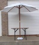 4' Round with 9' Market Umbrella and Base (umbrella colors vary)