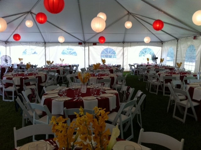 Unlit and Lighted Paper Lanterns (Variety of sizes and colors) & Tent Lighting | A Grand Event