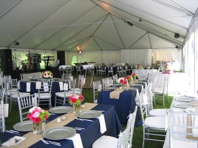 What the underside of a Frame Tent looks like without a tent liner. & Frame Tents | A Grand Event