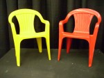 Yellow and Red Kids Chair
