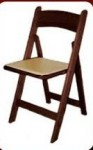 Mahogany Resin Folding Chair w/ Ivory sear