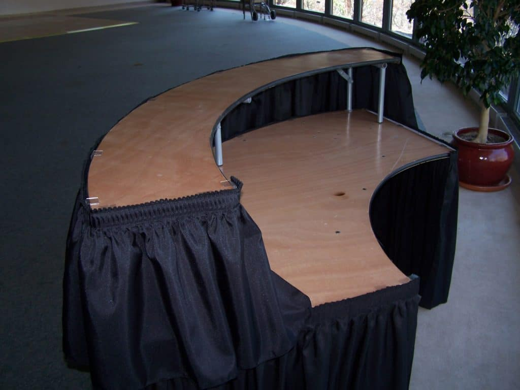 Party table rental wedding rental supplies tables for rent md 7 serpentine bar skirts included junglespirit Choice Image
