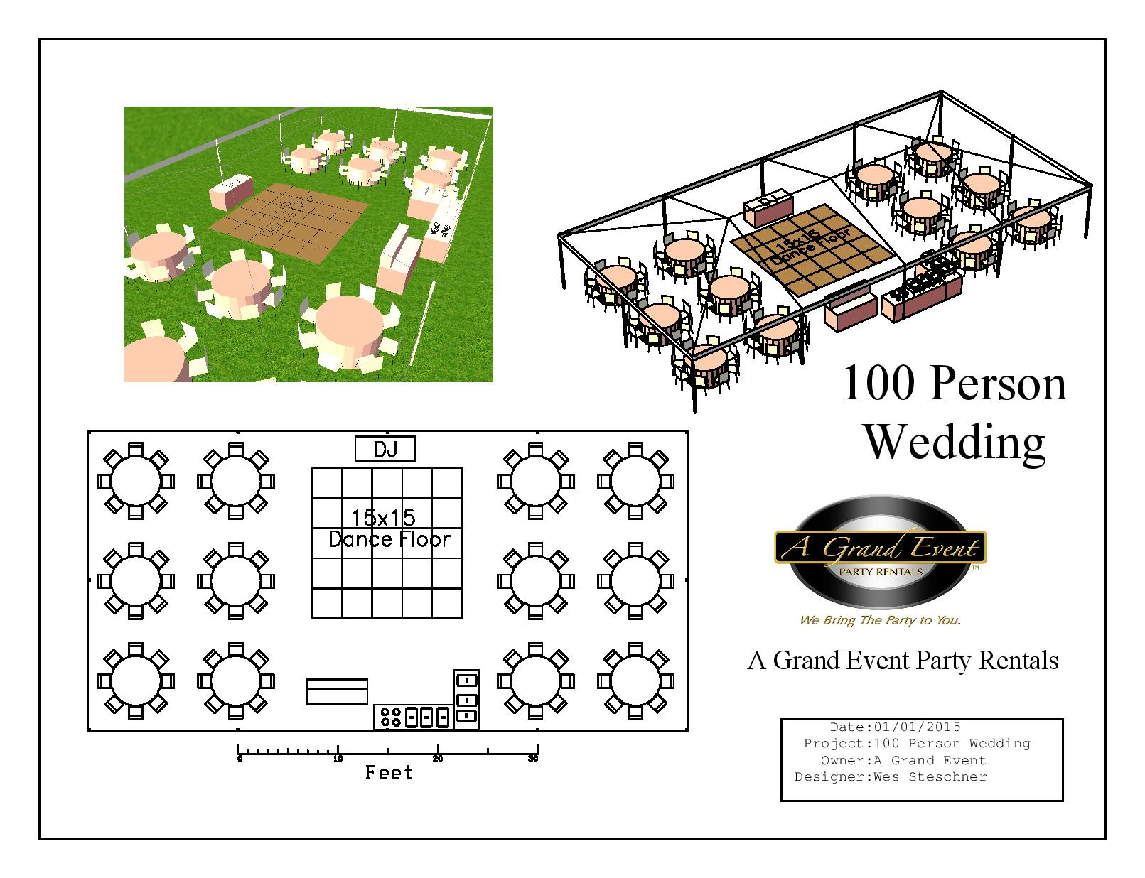 100 Person Wedding Package A Grand Event