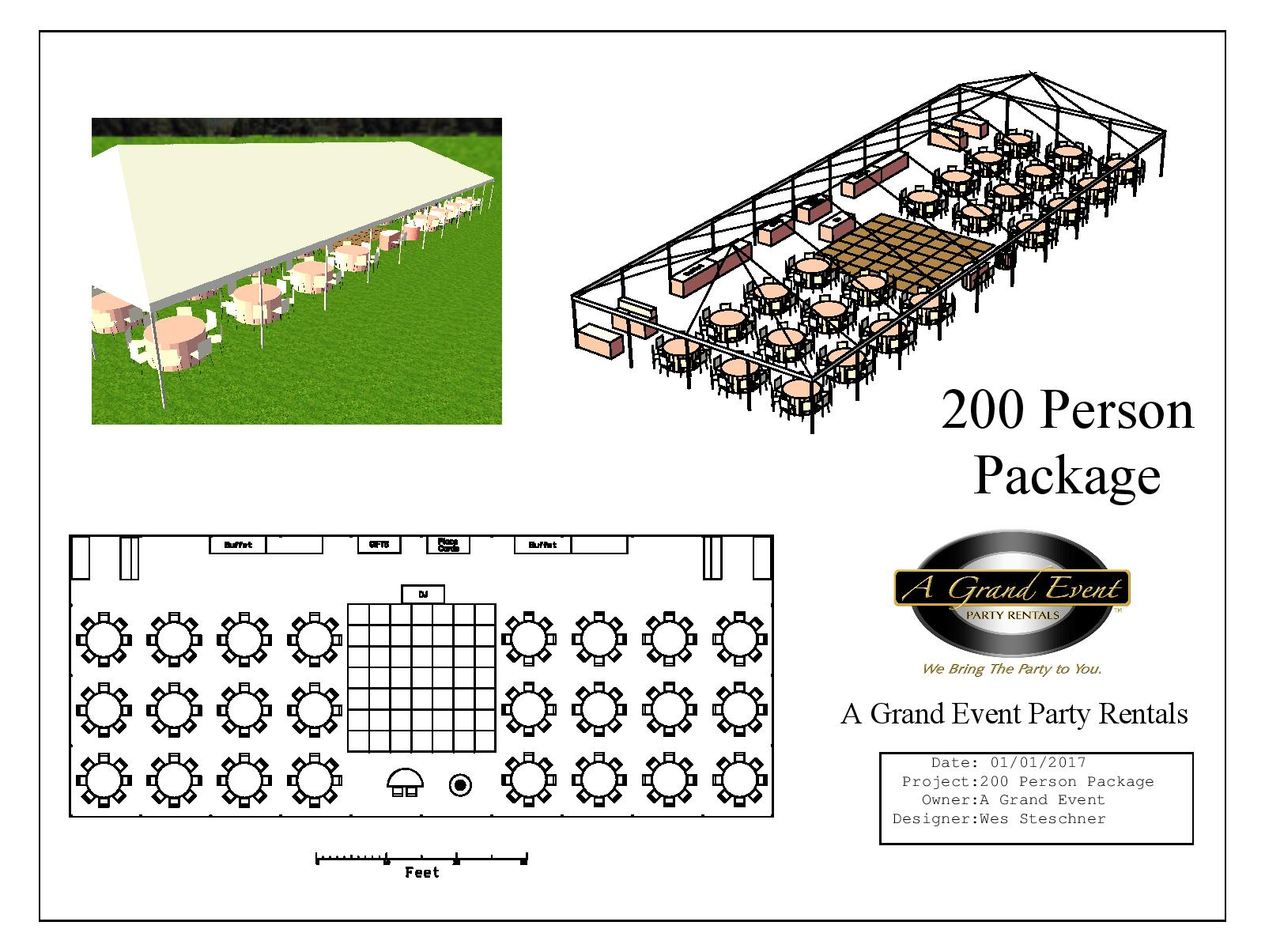 200 Person Tent Package  sc 1 st  A Grand Event & 200 Person Tent Package | A Grand Event