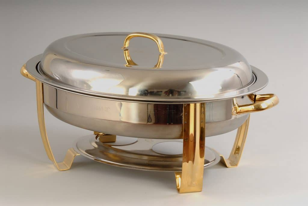 6 Qt Oval Lift Top S With Gold Trim
