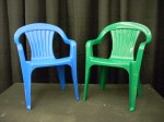 Blue and Green Kids Chairs