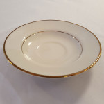 Ivory Gold Band Saucer