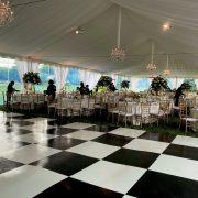 Slate White and Black Dance Floor